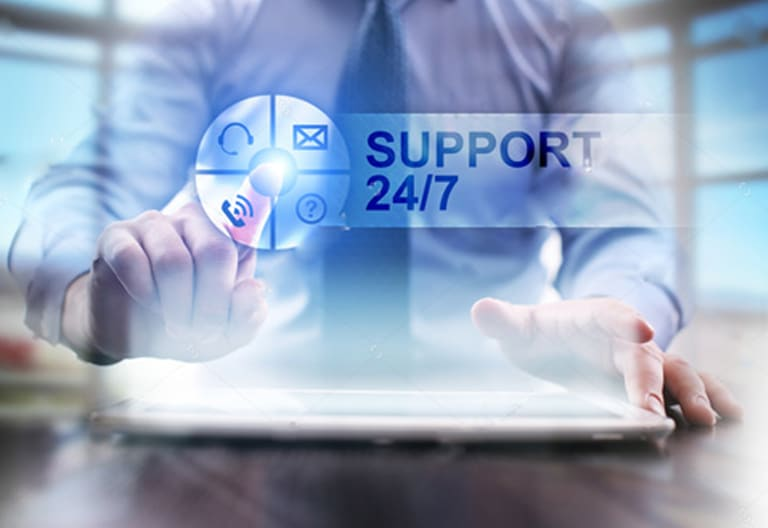 backend communication support 24/7
